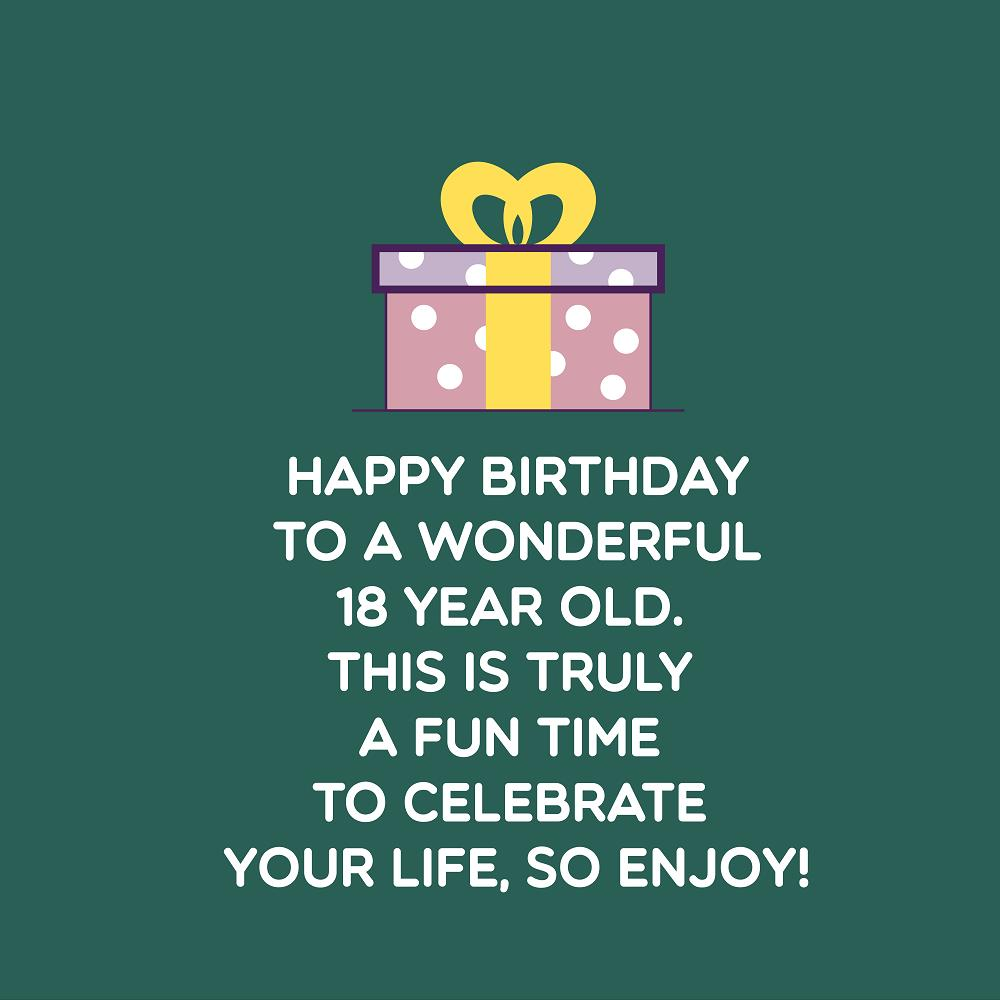 Excellent Sweet Happy 18Th Birthday Wishes Top Happy Birthday Wishes Funny Birthday Cards Online Fluifree Goldxyz